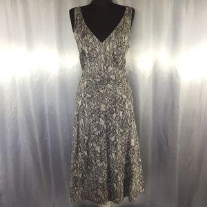 J. Crew lace printed cotton dress